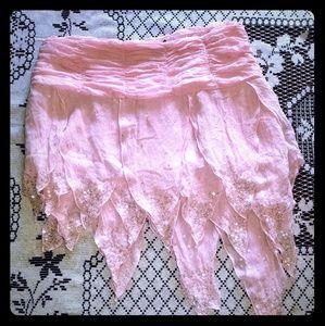 Bebe asymmetrical sequined skirt